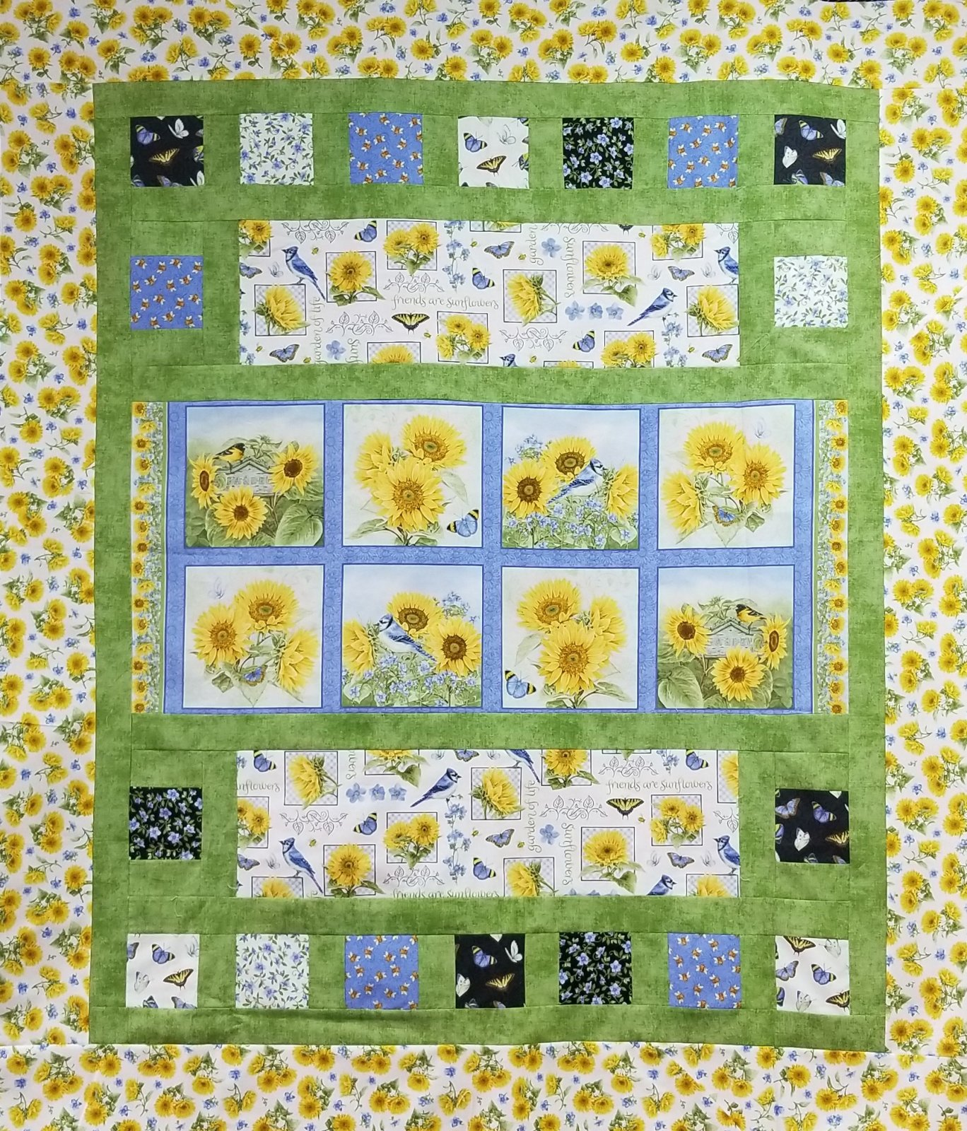 My Sunflower Garden 54.5 x 68.5 Bricks Kit