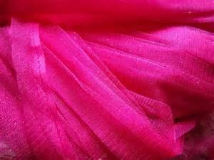 54in Glitter Curves Tulle- Fuchsia