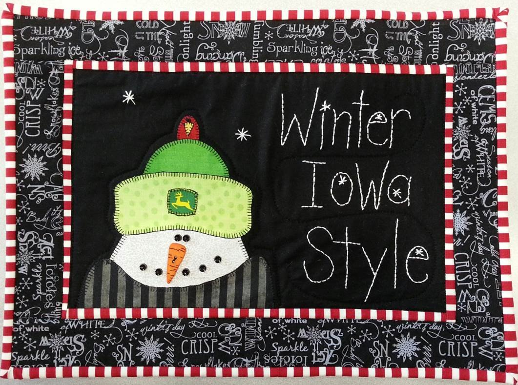 Winter Iowa Style Fabric Kit 12.5 x 16.5 (Pattern Not Included)