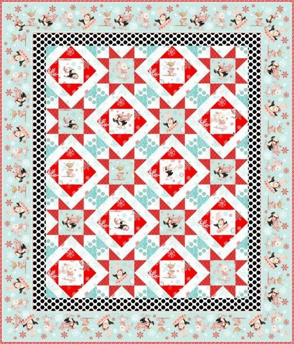 Peppermint Penguins Pieced - Kit