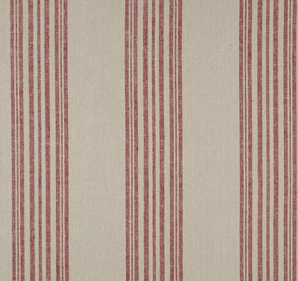Stof - Shabby Chic - Red Ticking