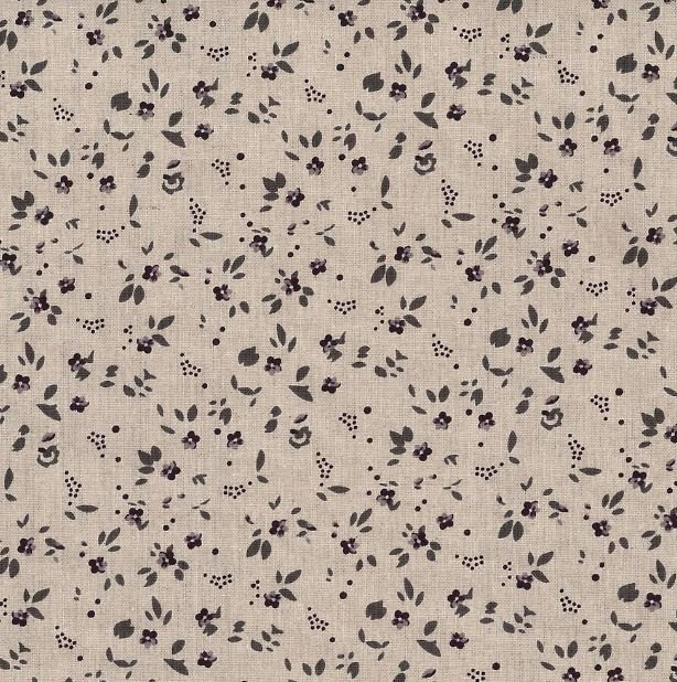 Stof - Shabby Chic - Purple and Gray mini floral