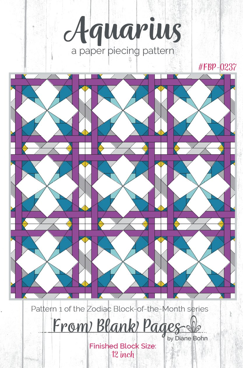 Aquarius - Paper Piecing Pattern