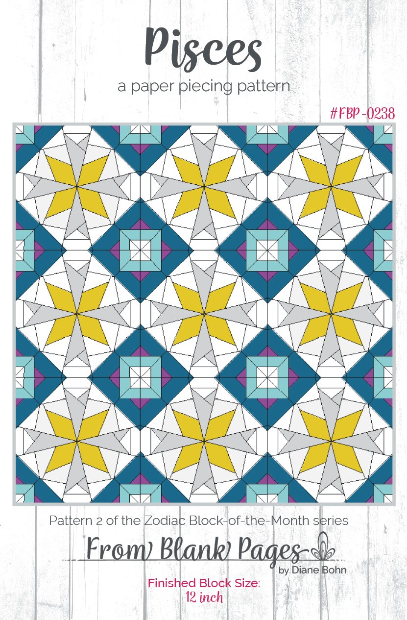 Pisces - Paper Piecing Pattern