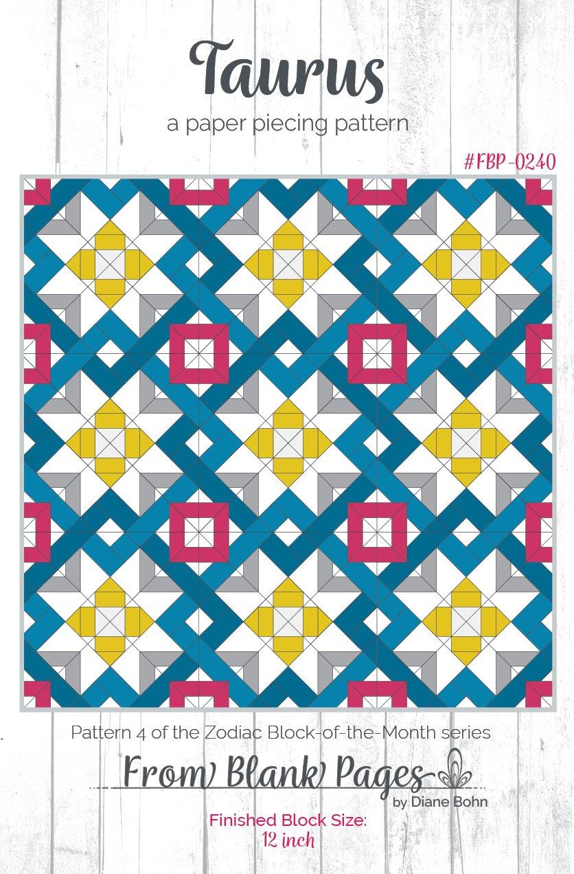 Taurus - Paper Piecing Pattern