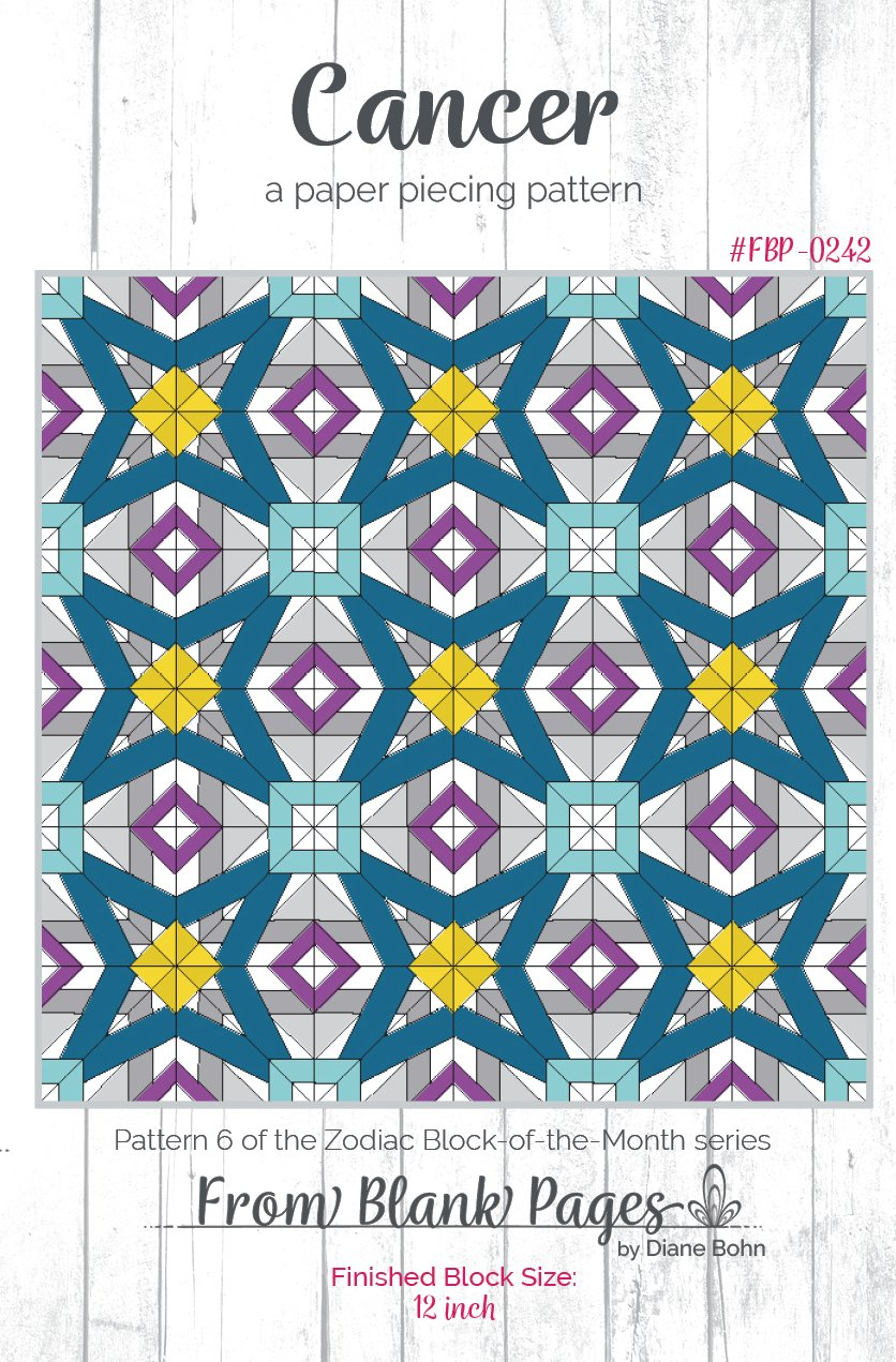 Cancer - Paper Piecing Pattern