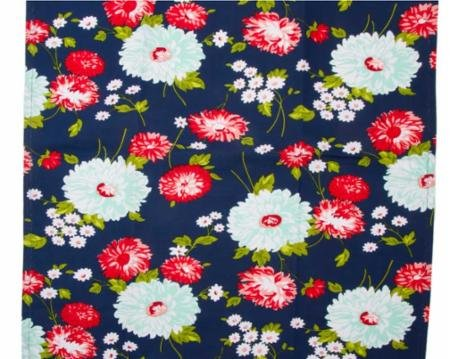 16 The Good Life Navy Flowers Toweling