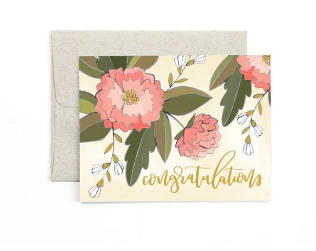 Card - Congrats Peonies