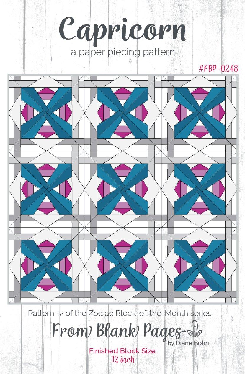 Capricorn - Paper Piecing Pattern