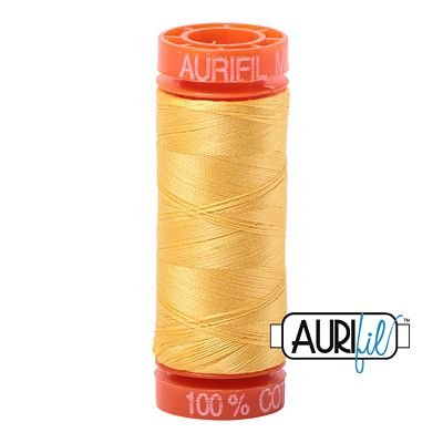 Aurifil 50wt 220yds - 1135 -  Pale Yellow