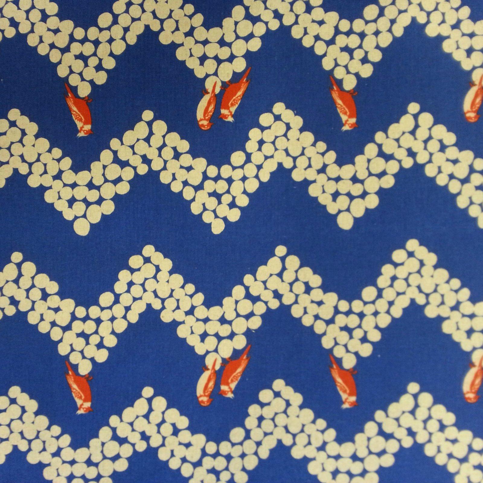 Echino - Birds and Chevron - Blue