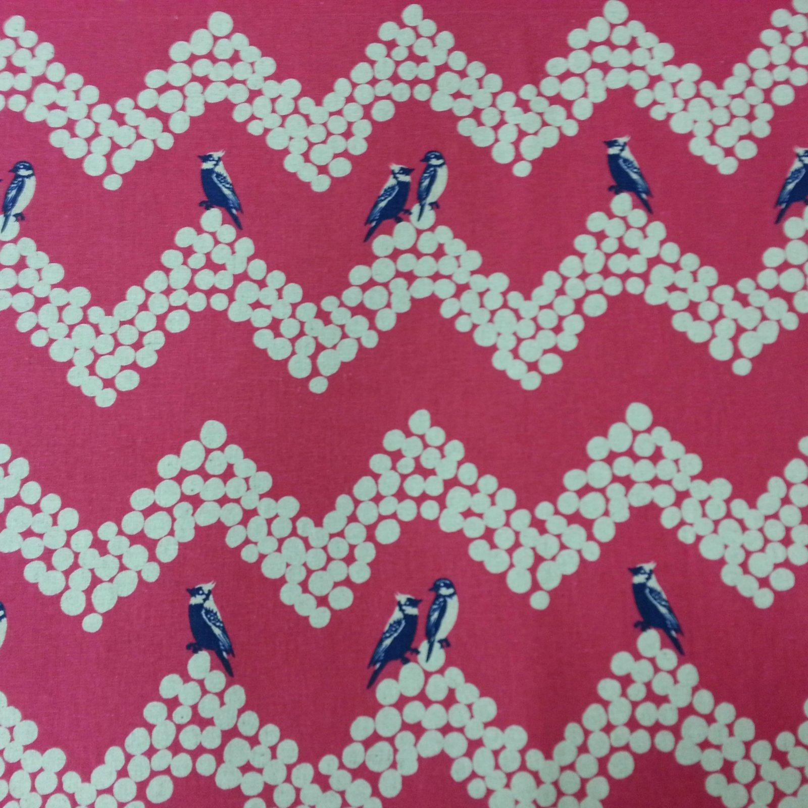 Echino - Birds and Chevron - Pink
