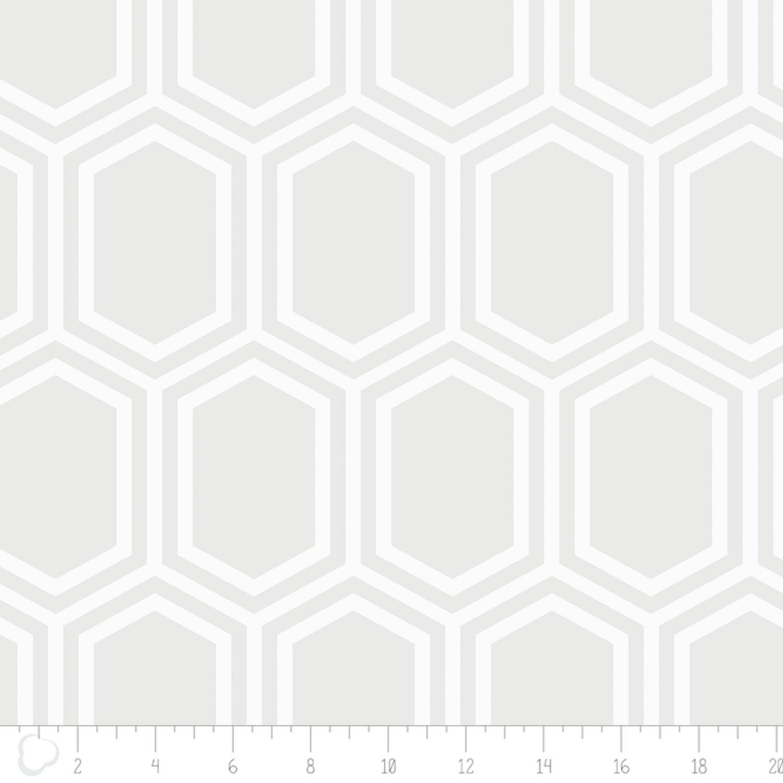 Opalescent - Hexagon - White