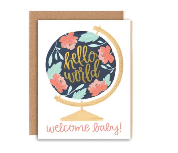 Card - Baby Hello World