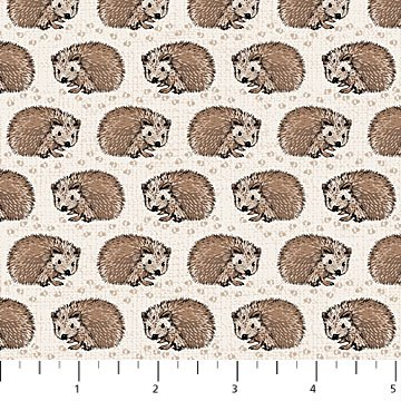 Northcott - Woodland Pitter Patter - Porcupine