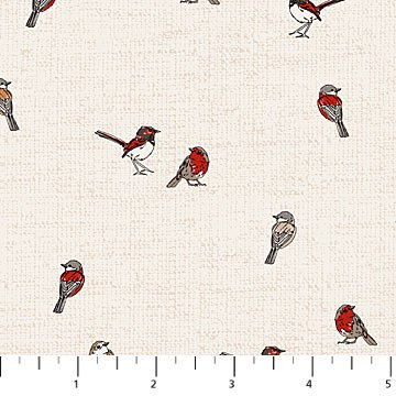 Northcott - Woodland Pitter Patter - Birds - Lt Taupe
