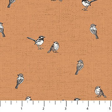 Northcott - Woodland Pitter Patter - Birds - Rust