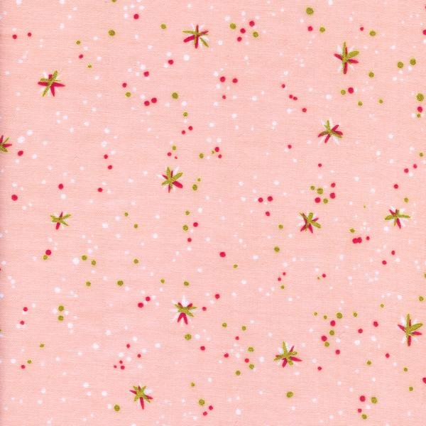 Kim Kight - Rotary Club Double Gauze - Space Thistles - Pink