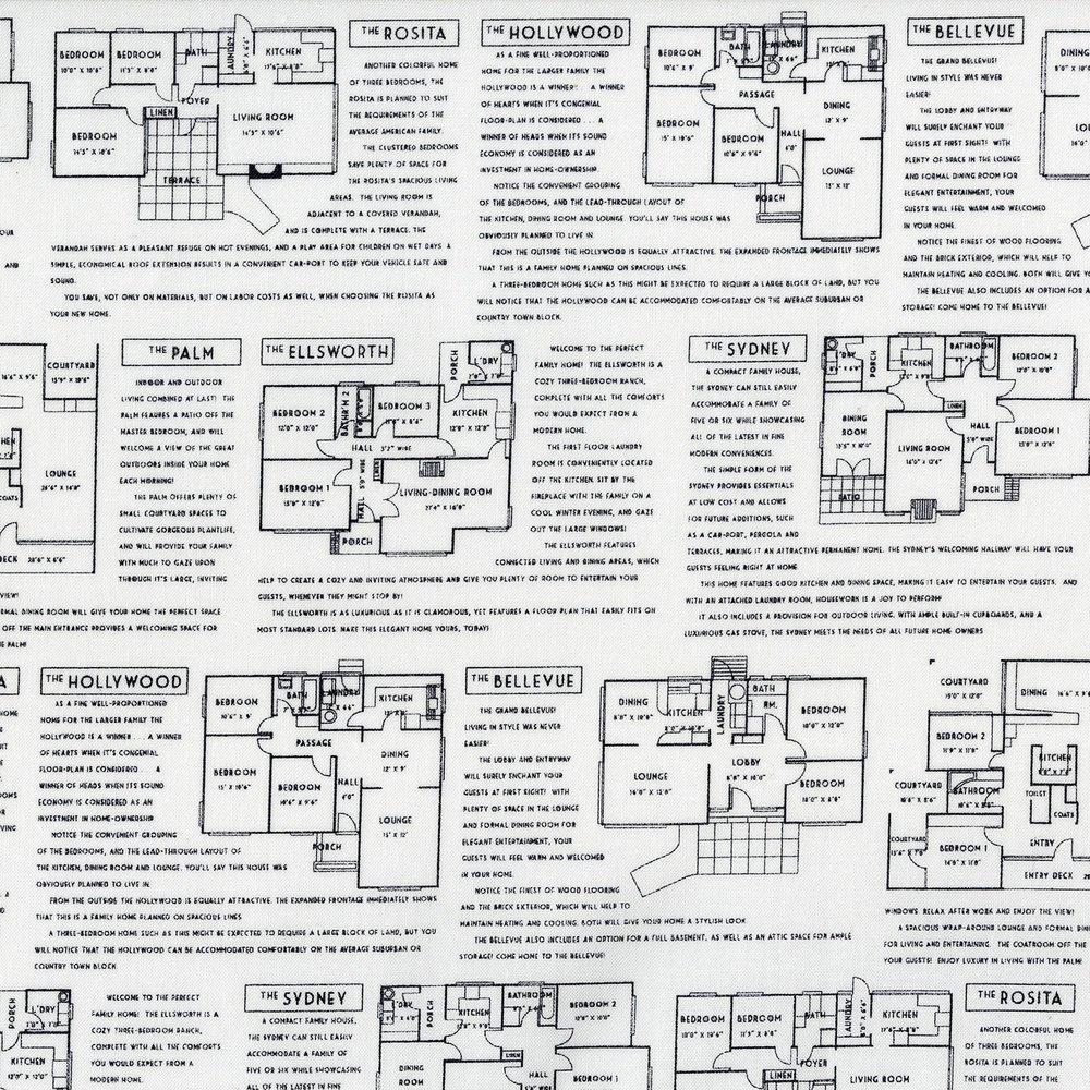 Fine Print- Floor Plans - Black