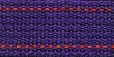 Echino 25mm Webbing - Violet and Orange