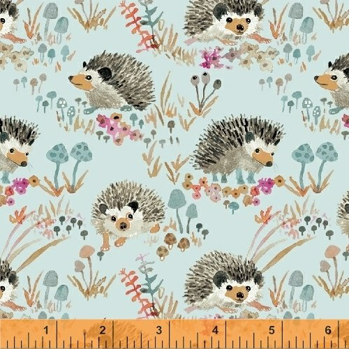 Enchanted Forest - Hedgehogs - Teal