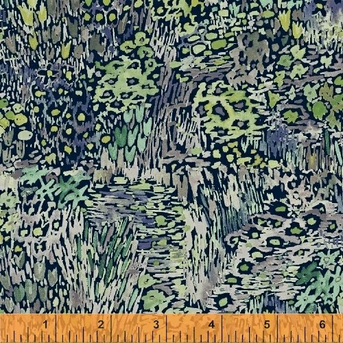 Enchanted Forest - Grass - Navy