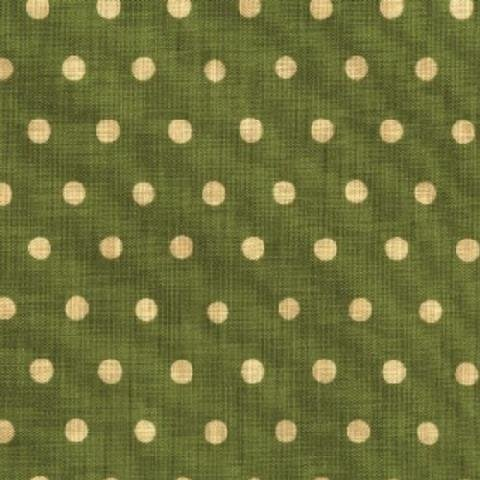 Echino - Dot Dot Dot - Cream on Moss Green