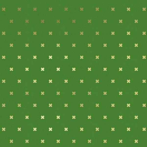 Cotton + Steel - Basics - XOXO - Kelly Green