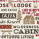 Home Sweet Cabin - Words - Cream