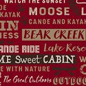 Home Sweet Cabin - Words - Red