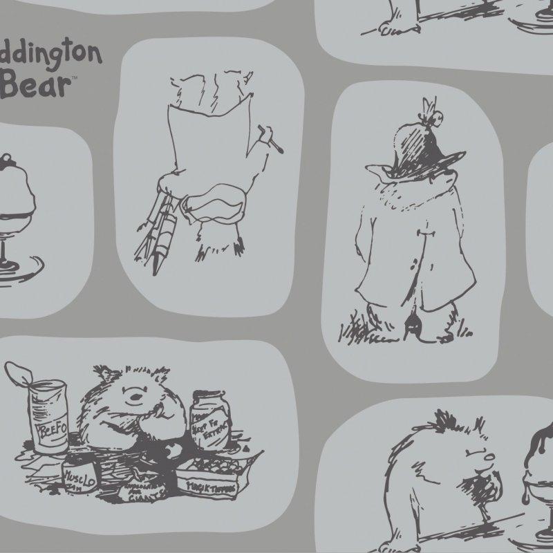 Camelot - Paddington Bear - Tiles - Grey