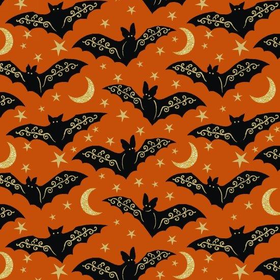 Midnight Spell Metallic - Bats - Orange