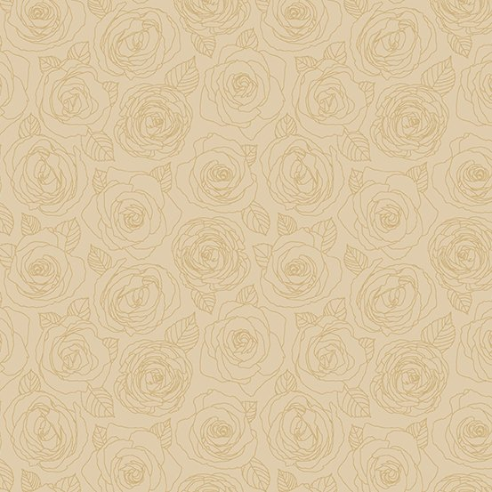 Andover - Mosaic - Rose Outlines - Parchment
