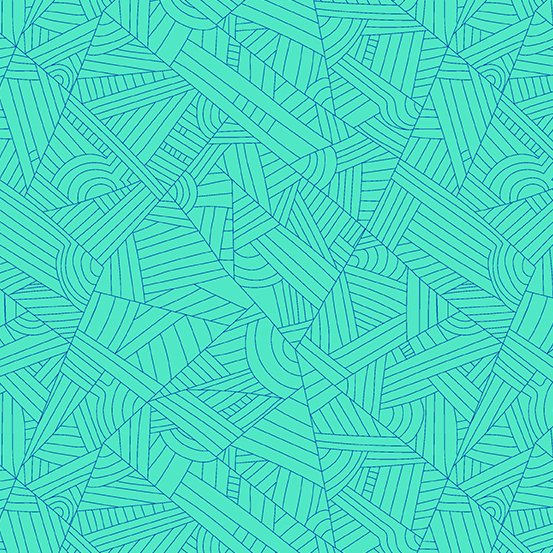 Andover - Mosaic - Lines - Turquoise