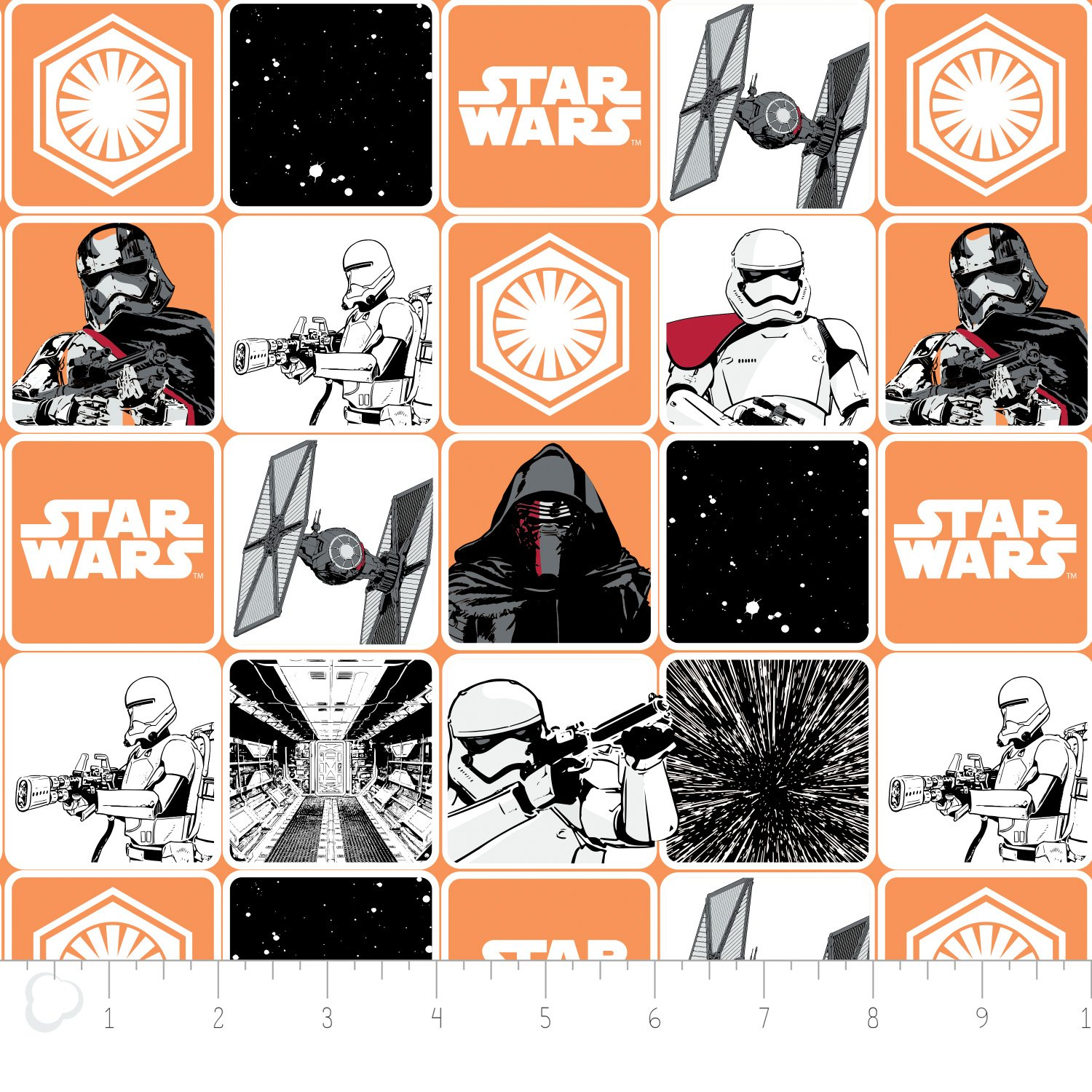 The Force Awakens - Grid - Orange