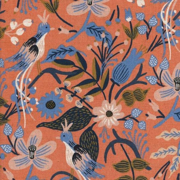 Rifle Paper Co - Les Fleurs Canvas - Folk Brids - Peach