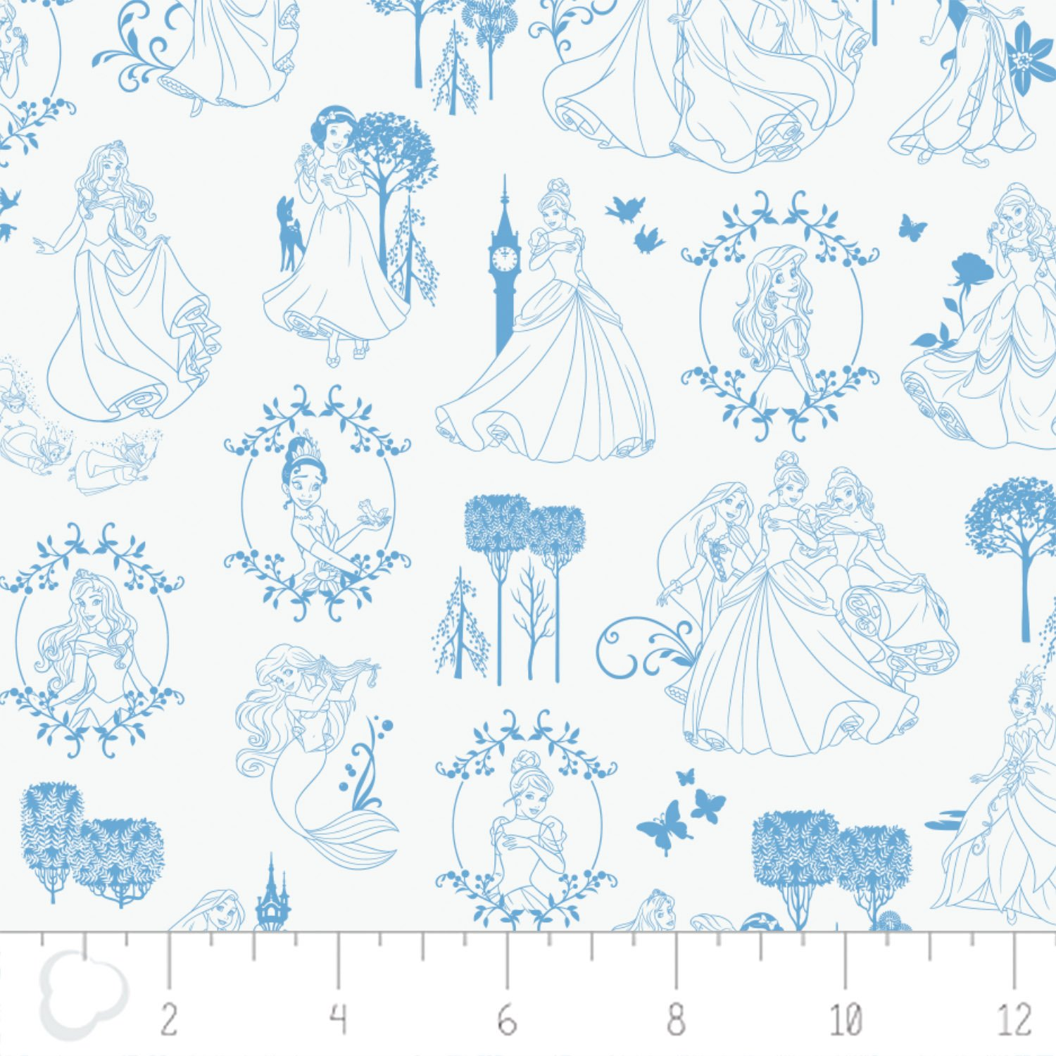 Camelot - Disney Princesses - Toile in Blue