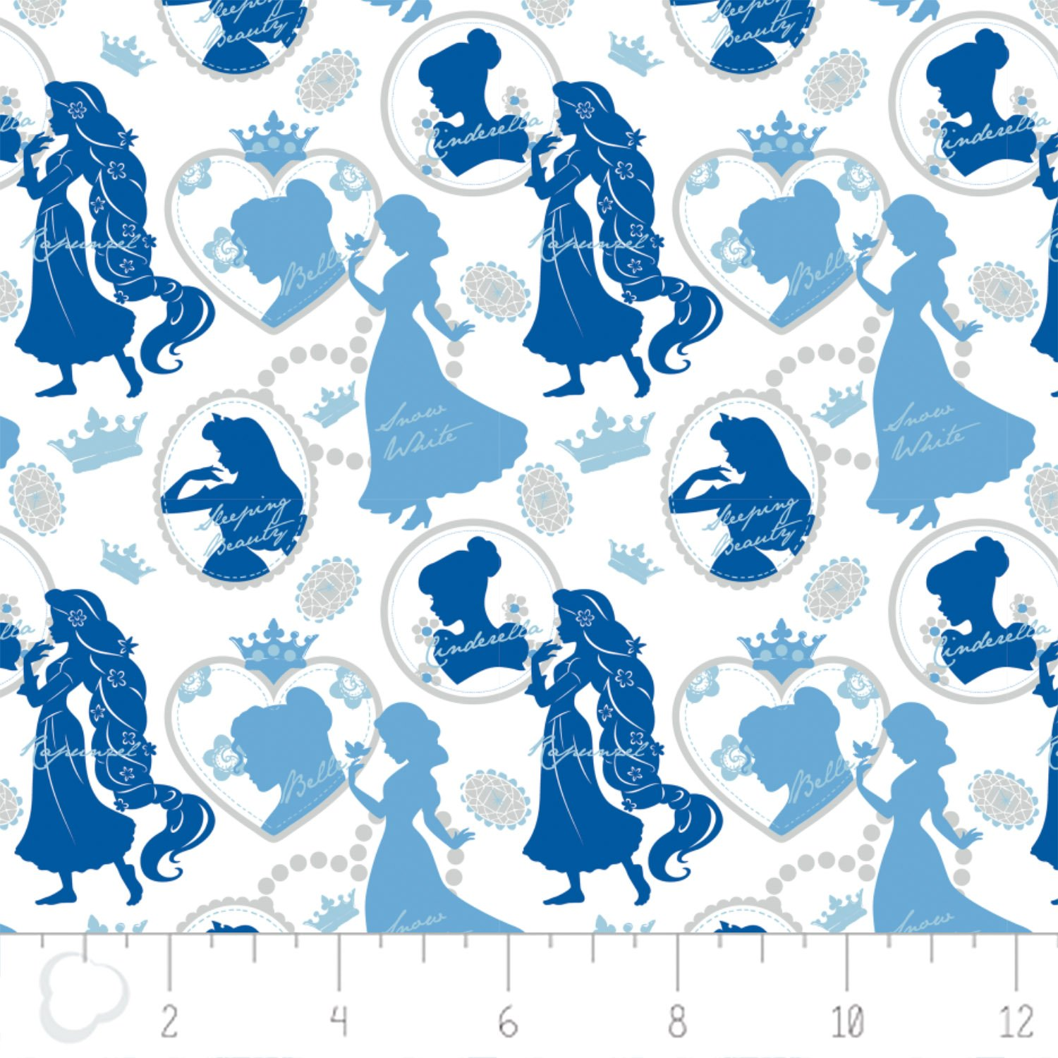Camelot - Disney Princesses - Silhouette in Blue