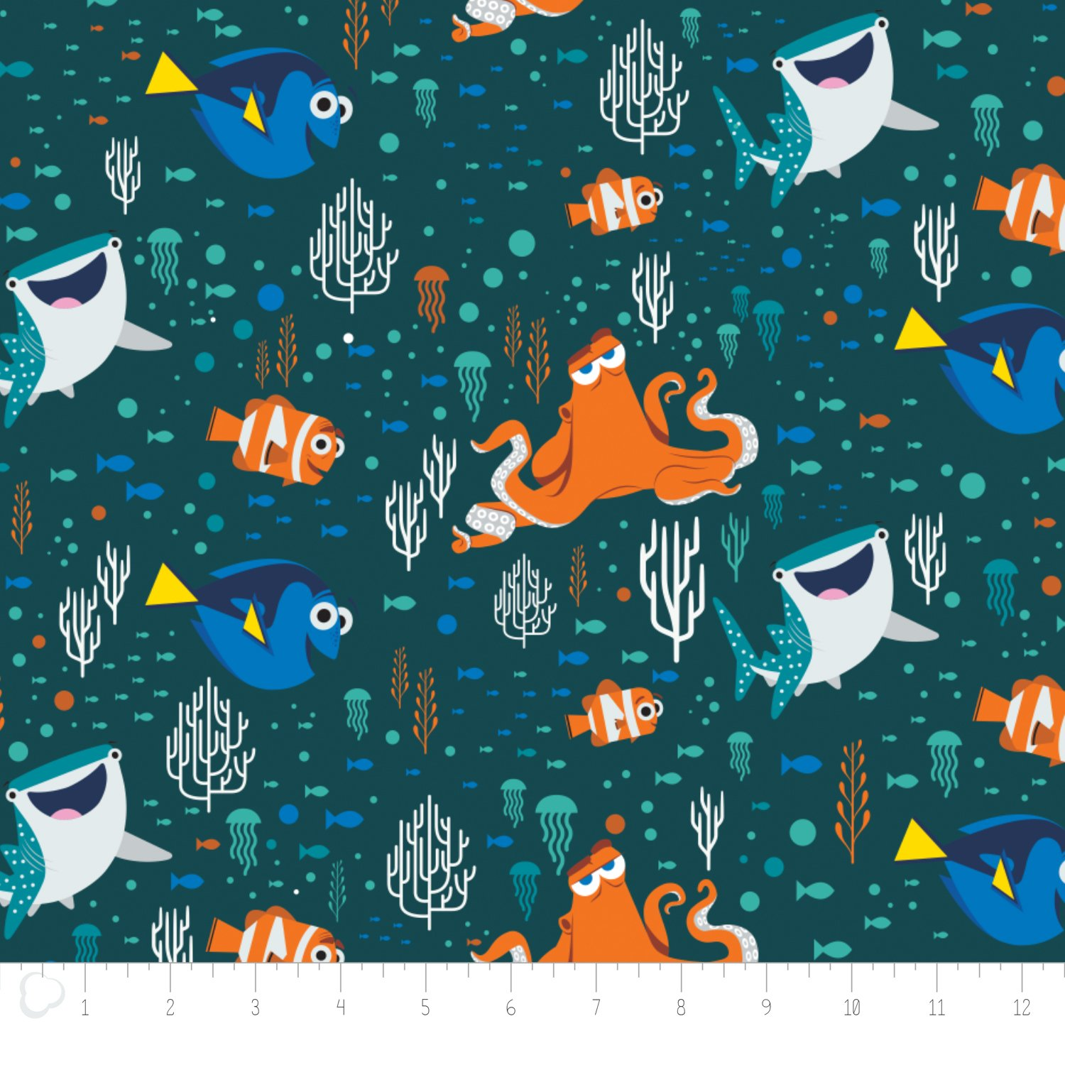 Finding Dory - Characters & Coral - Dark Teal