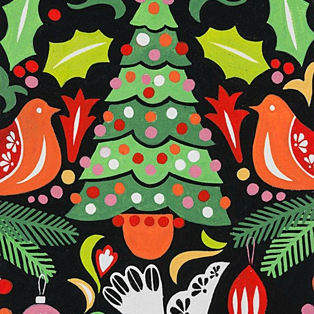 Christmas Time - Paloma Navidad - Black