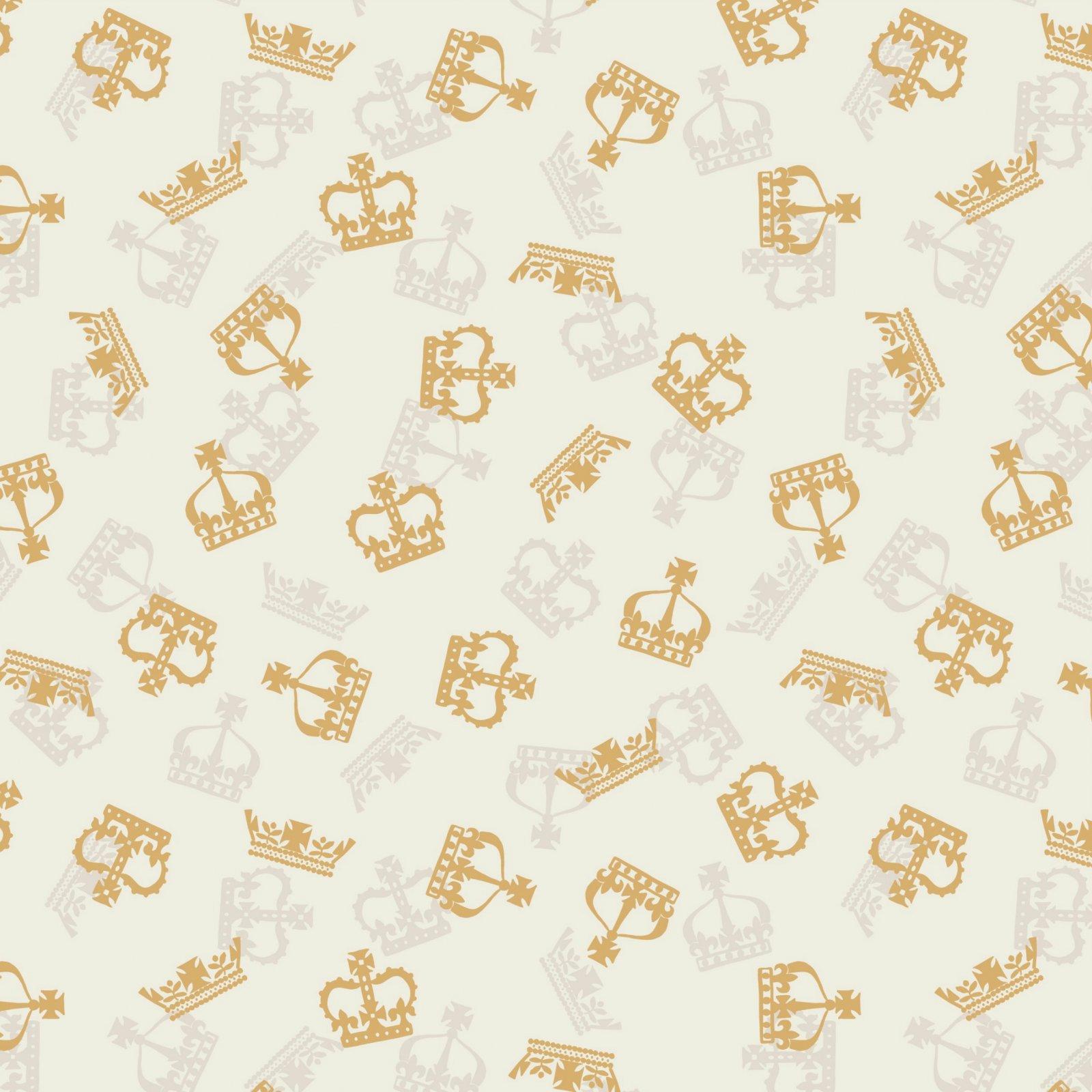 Britannia -  Crowns - Metallic Gold/Cream