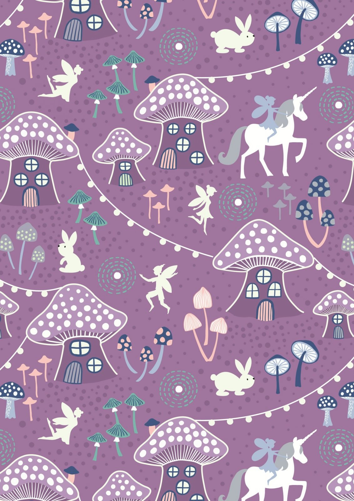 Fairy Nights - Mushroom Village - Blackberry