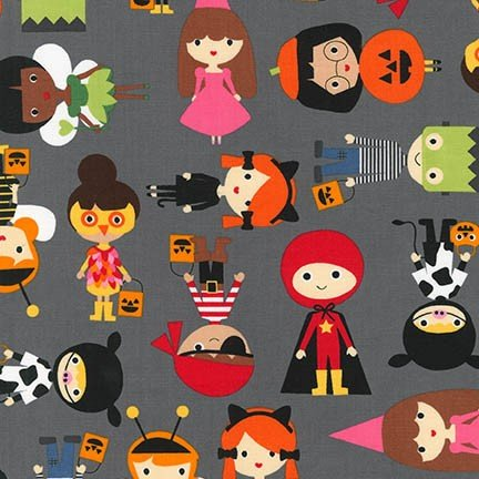 Robert Kaufman - Pumpkin Fun - Charcoal