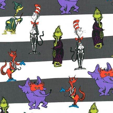 Spooktacular Seuss - Character Stripe - Grey