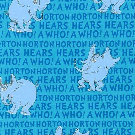 Horton Hears a Who - Horton Text - Blue