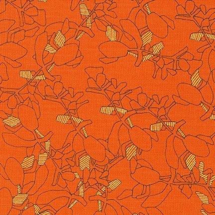 Collection CF - Metallic Leaves - Orangeade