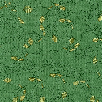 Collection CF - Metallic Leaves - Moss