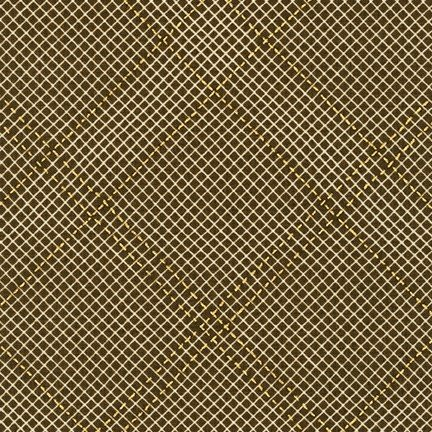 Collection CF - Metallic Grid Lines - Brown