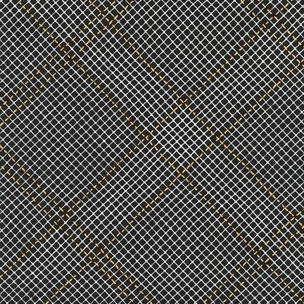 Collection CF - Metallic Grid Lines - Black