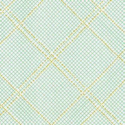 Collection CF - Metallic Grid Lines - Seafoam